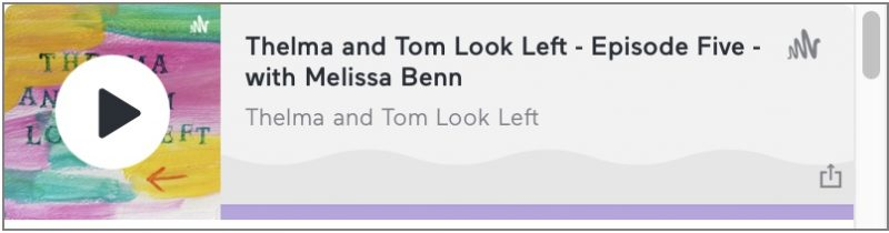 Melissa makes guest appearance on Thelma & Tom Look Left…